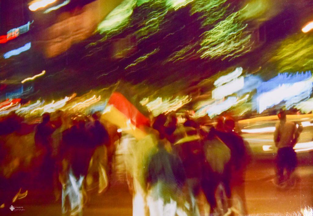 Potsdamer Platz am Tag des Mauerfalls 1989