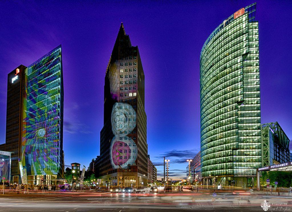 Potsdamer Platz zur Blauen Stunde