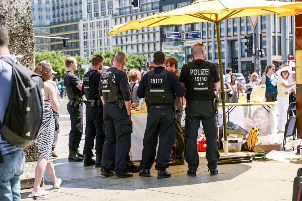 Polizei am Potsdamer Platz