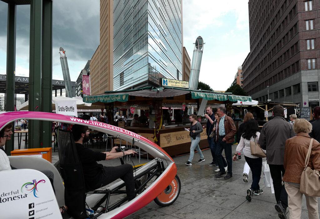 Rikscha-Tour am Potsdamer Platz Berlin